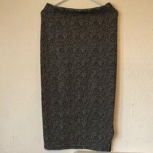 Cute 14th & Union Black White Midi Skirt Sz S EUC